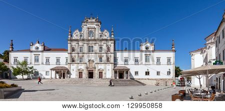 Santarem, Portugal. September 9, 2015: Santarem See Cathedral aka Nossa Senhora da Conceicao Church built in the 17th century Mannerist style.