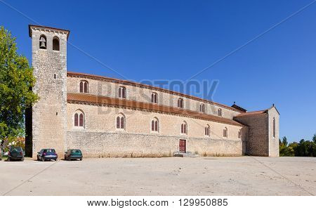 Santarem, Portugal. September 9, 2015: Santa Clara Church. 13th century Mendicant Gothic Architecture.