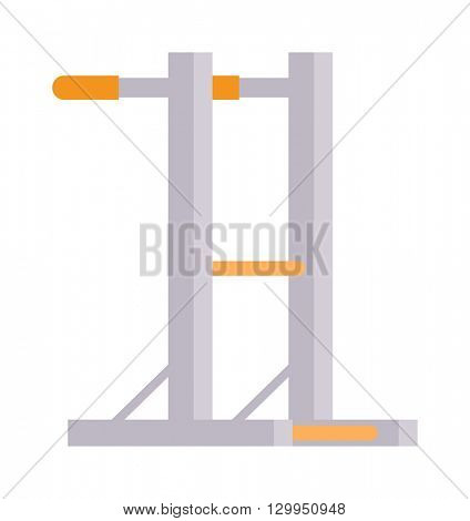 Gymnastics wall bars vector illustration.