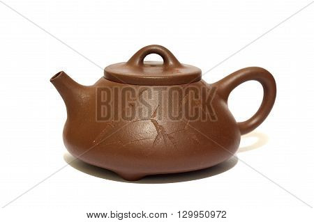 Chinese teapot from Yixing clay old brown