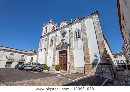 Santarem, Portugal. September 11, 2015:  Sao Nicolau Church. Mannerist and Baroque.