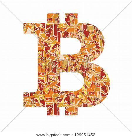 Bitcoin Symbol On Modern Background Materal Design