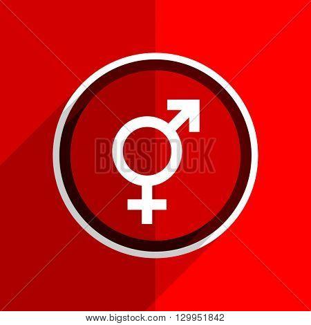 red flat design sex web modern icon
