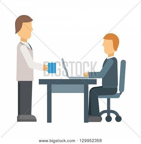 Office secretary vector illustration.