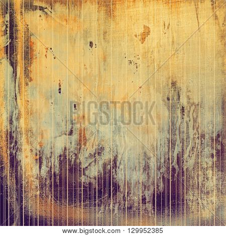 Grunge background for your design, aged shabby texture with different color patterns: yellow (beige); brown; purple (violet); gray