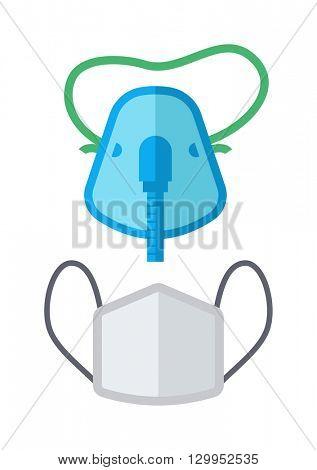 Breath mask vector illustration.
