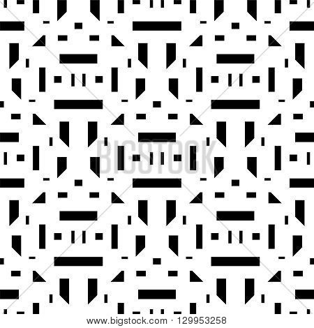 Vector seamless pattern. Modern stylish texture. Repeating geometric tiles with rectangular elements