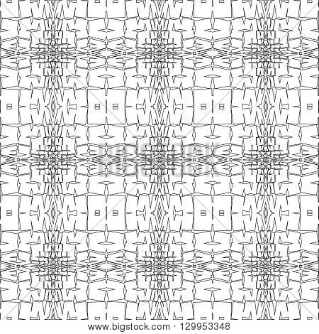 Vector seamless pattern. Modern stylish texture. Repeating geometric tiles with lines elements