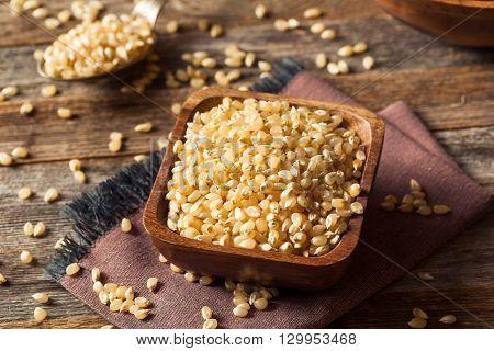 Raw Organic White Popcorn Kernals