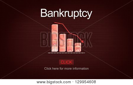 Bankruptcy Debt Loan Owed Payment Trouble Concept