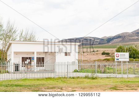 AVONTUUR SOUTH AFRICA - MARCH 5 2016: A clinic in Avontuur a small town in the Langkloof in the Western Cape Province