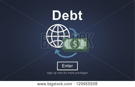 Debt Loan Credit Money Financial Problem Concept