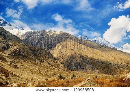 Landscape view of Chitkul, Kinnaur district, Himachal