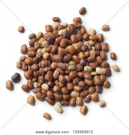 Heap of dried Jarpesie beans on white background