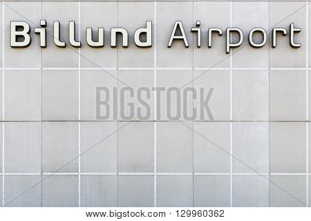 Billund, Denmark - May 14, 2016: Billund airport terminal in Denmark. Billund airport is the second largest airport in Denmark