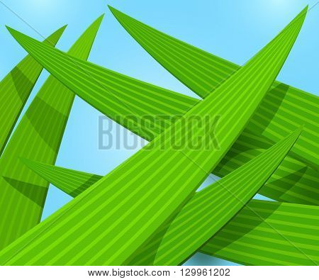 Green grass macro vector illustration, grass color background, spring or summer abstract green background