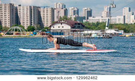 Sup Athletic Girl Yoga Meditation05