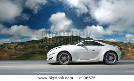 Sports car.  My own car design. Not associated with any brand.