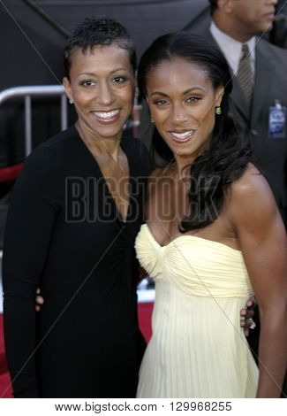 Jada Pinkett Smith at the Los Angeles premiere of 'Collateral' held at the Orpheum Theatre in Los Angeles, USA on August 2, 2004.