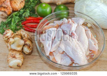Prepare Chicken Wing