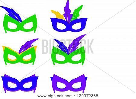 Mardi gras mask, vector mardi gras masks vector