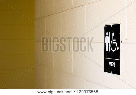 Men's Bathroom Sign