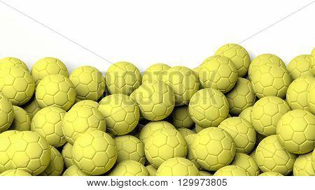 3D rendering Handball  balls on white background