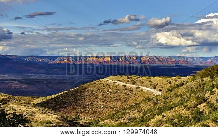 View Of Mountains In Sedona Arizona