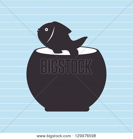 fish in fish tank design, vector illustration eps10 graphic