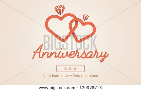 Anniversary Annual Yearly Celebration Memories Party Concept