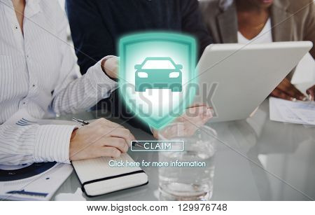 Claim Accident Emergency Insurance Security Concept