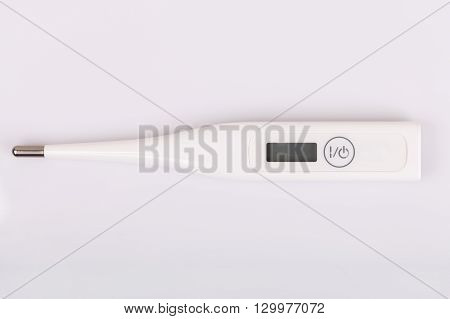 Thermometer On White Background.