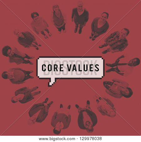 Core Values Ideology Principles Purpose Moral Policy Concept
