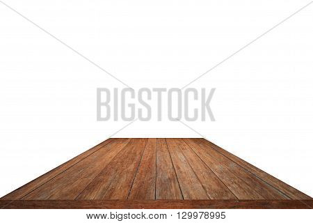 Wood pattern table top isolated on white background - for display or montage your products
