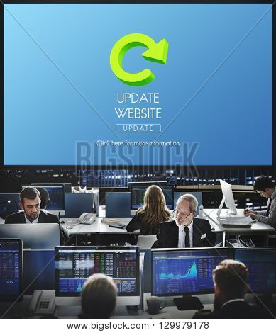 Update Website Webpage Networking Concept