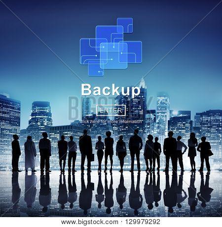 Backup Data Storage Database Restore Safety Security Concept