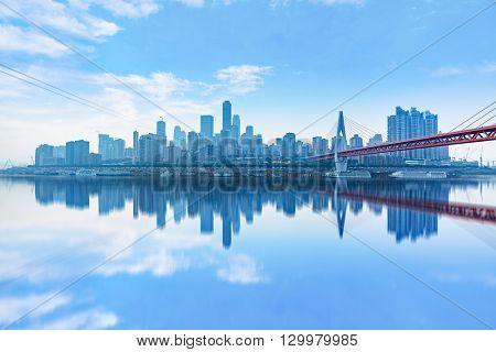 chongqing cityscape,yangtze river bridge