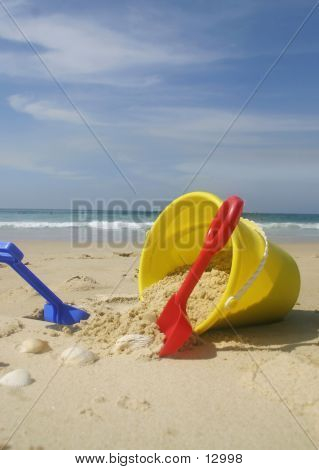 Beach Bucket And Spades