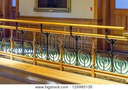 Handrail At Legislative Building In Toronto, Ontario, Canada