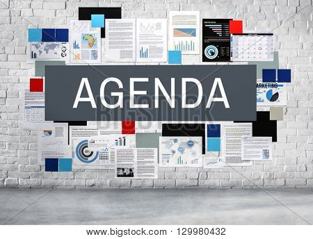 Agenda Appointment Calendar List Meeting Concept