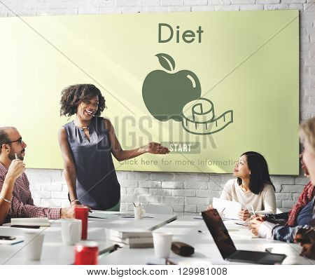 Diet Food Nutrition Obesity Weight Loss Concept