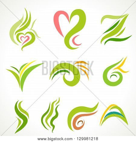 Abstract colorful graphic art , curve line graphic