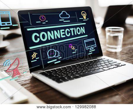 Connection Bond Networking Social Media Link Concept