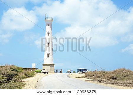 California LIghthouse on Aruba island in the Caribbean