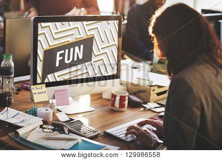 Fun Funny Happiness Enjoyment Joyful Pleasure Concept