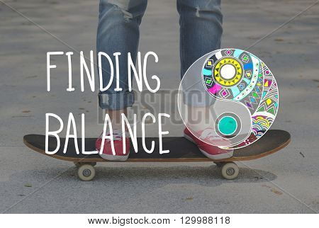 Finding Balance Stability Profit Steady Concept