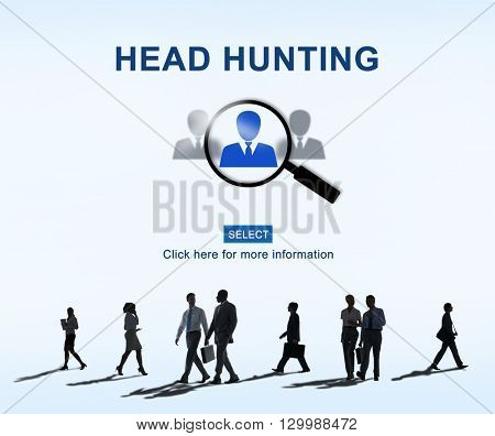 Headhunting Hiring Employment Occupation Jobs Concept