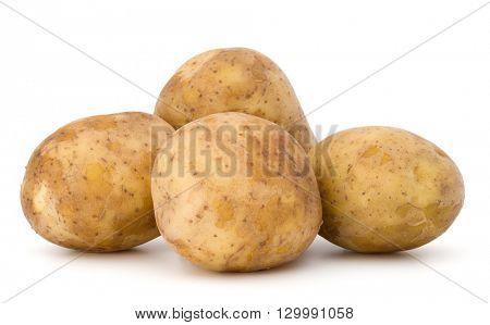 new potato tuber isolated on white background cutout