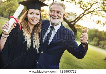 Graduation Celebration Success Certificate College Concept