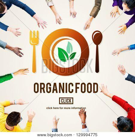Organic Food Healthy Nourishment Concept